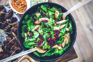 healthy spinach bowl