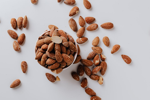 bunch of almonds