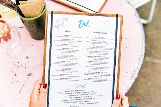 organic menu