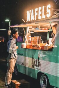 Man Near Food Truck